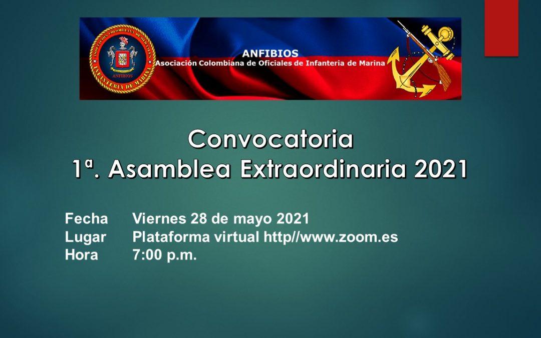 Convocatoria 1ª Asamblea Extraordinaria 2021