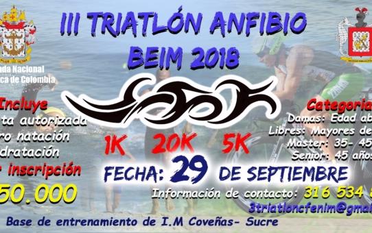 lll TRIATLÓN ANFIBIO BEIM 2018