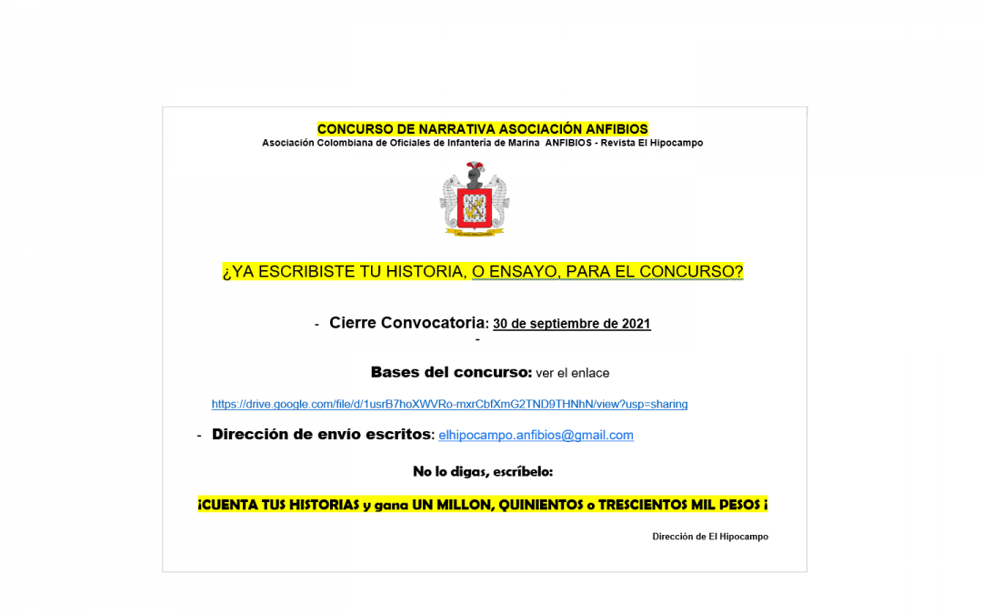 NUEVO AVISO CONCURSO DE NARRATIVA
