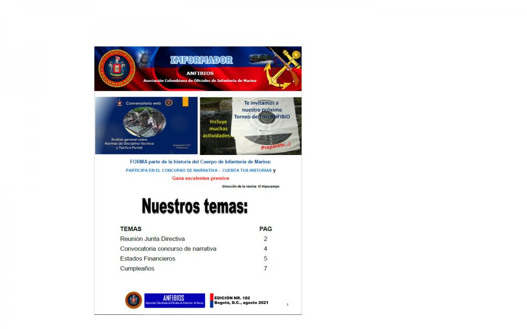 IMFORMADOR NR. 182 ANFIBIOS 2021
